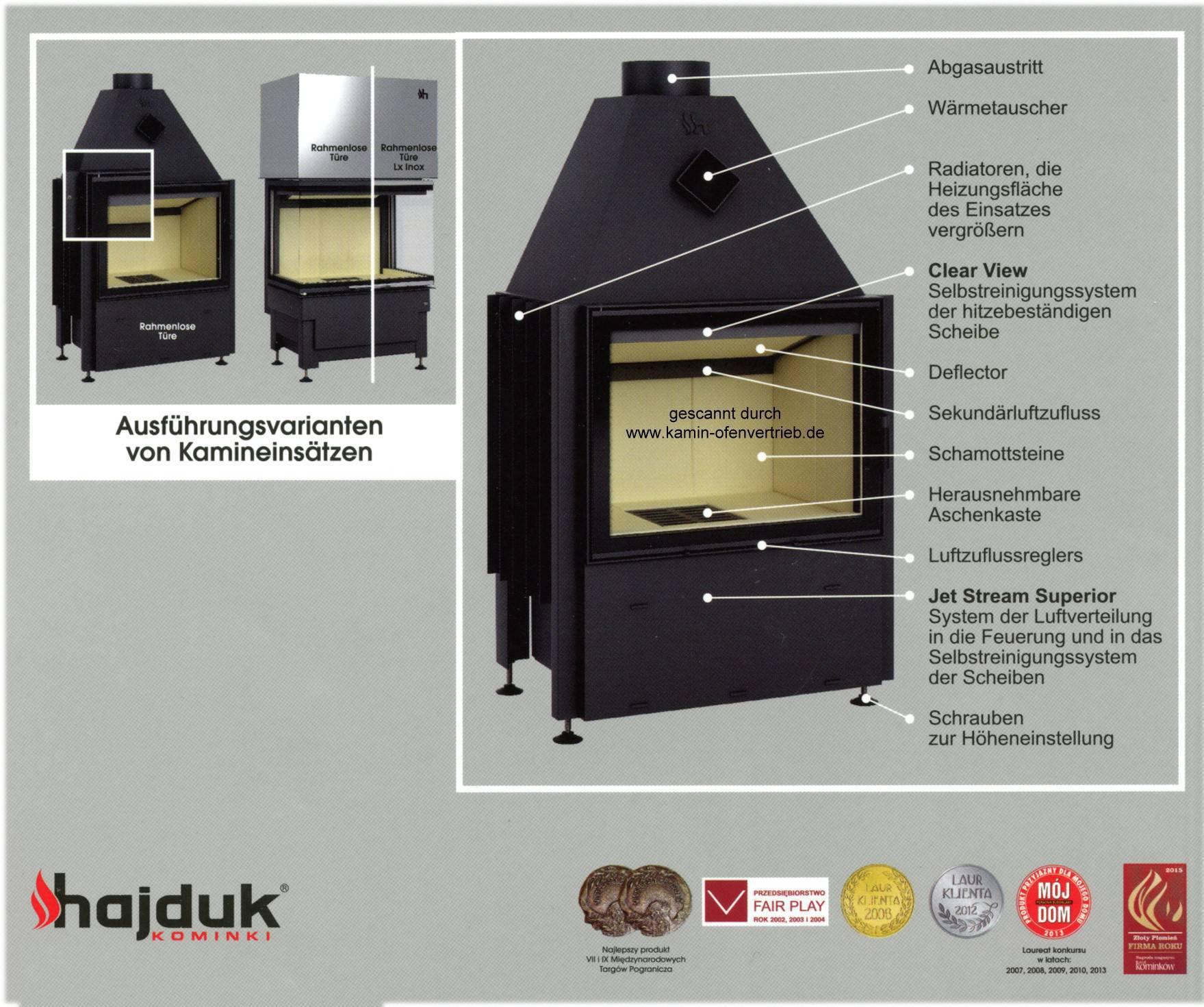 hajduk kamineinsatz prisma mh mrh 1vh 1vht 1vmh kh krh. Black Bedroom Furniture Sets. Home Design Ideas