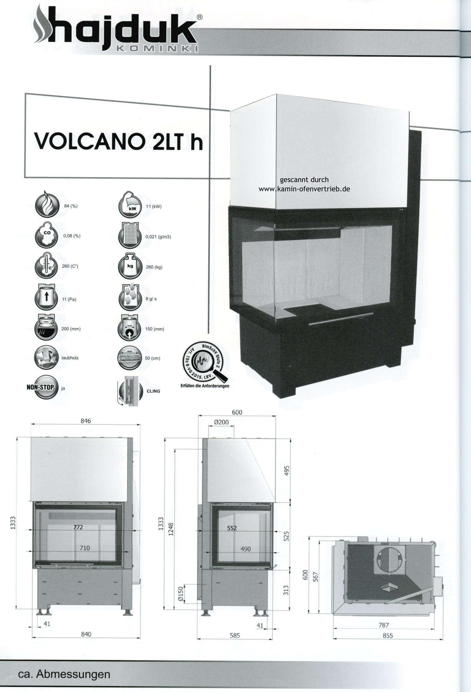 hajduk kamineinsatz volcano 1v h n h 2l 2p h t fd h 3plh. Black Bedroom Furniture Sets. Home Design Ideas
