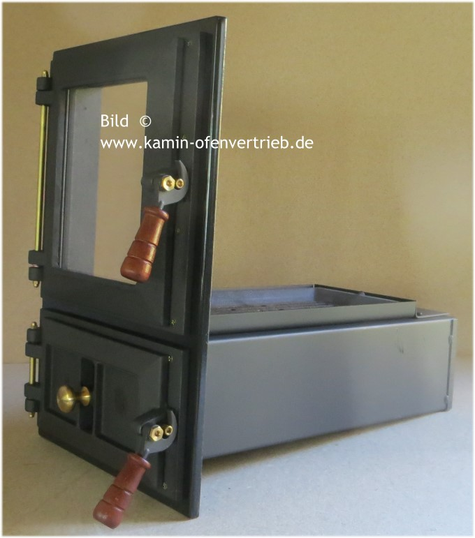 herdbauteil herdt r ofenbauteil ofent r glas rost aschenkasten backr hre grundofen built in. Black Bedroom Furniture Sets. Home Design Ideas
