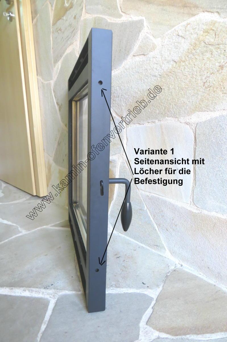 Kamintüren, Kamintür, für offenen Kamin mit Glas / Sichtfenster und ...