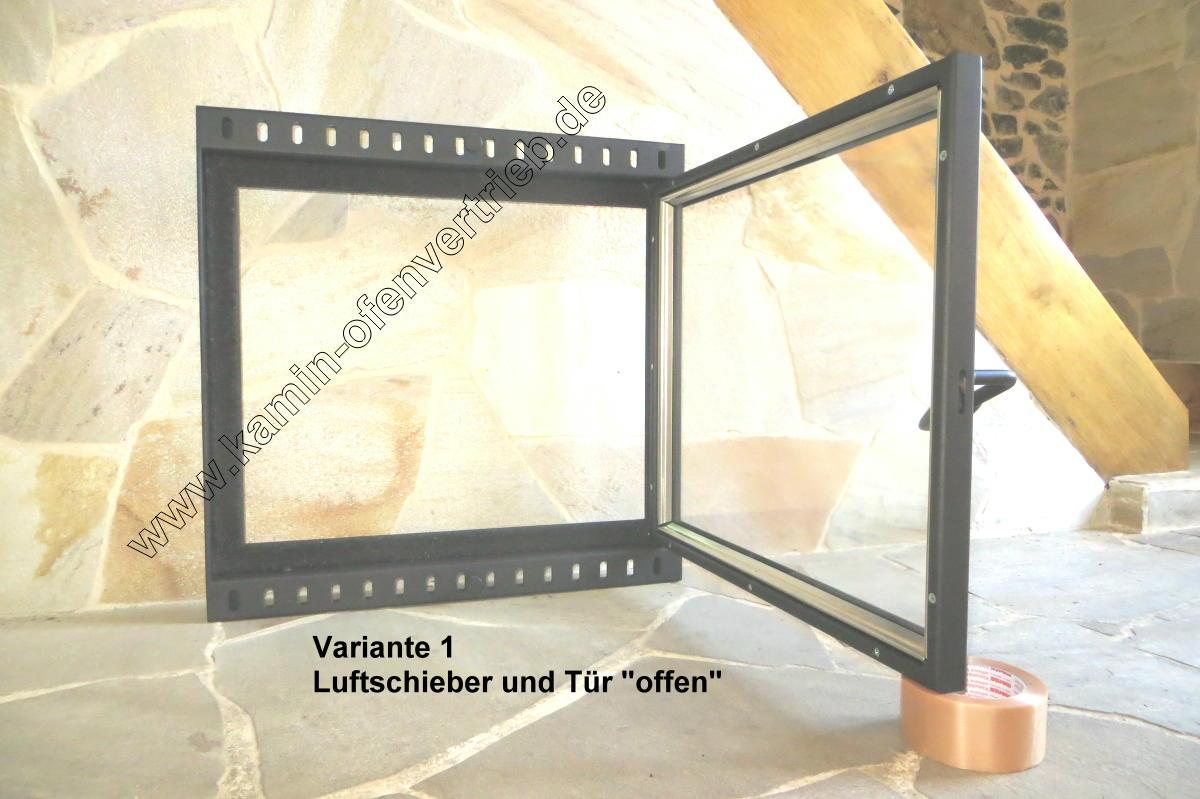 Kamintür Einflüglig Mit Glas Für Offenen Kamin Variante 1