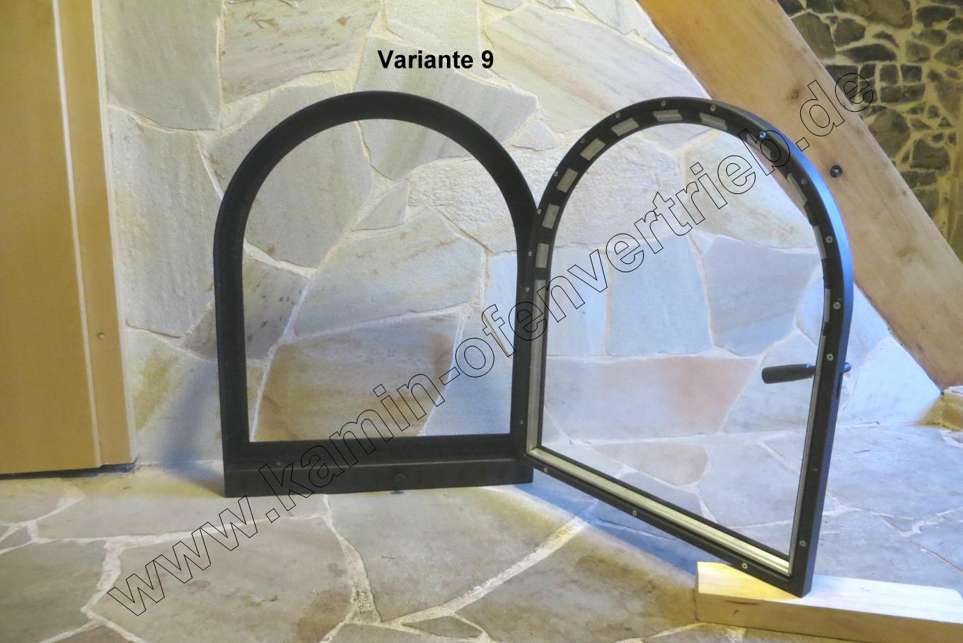 Tür Rundbogen Glas ~  offenen Kamin mit Glas  Sichtfenster und Rahmen und Lüftungsgitter