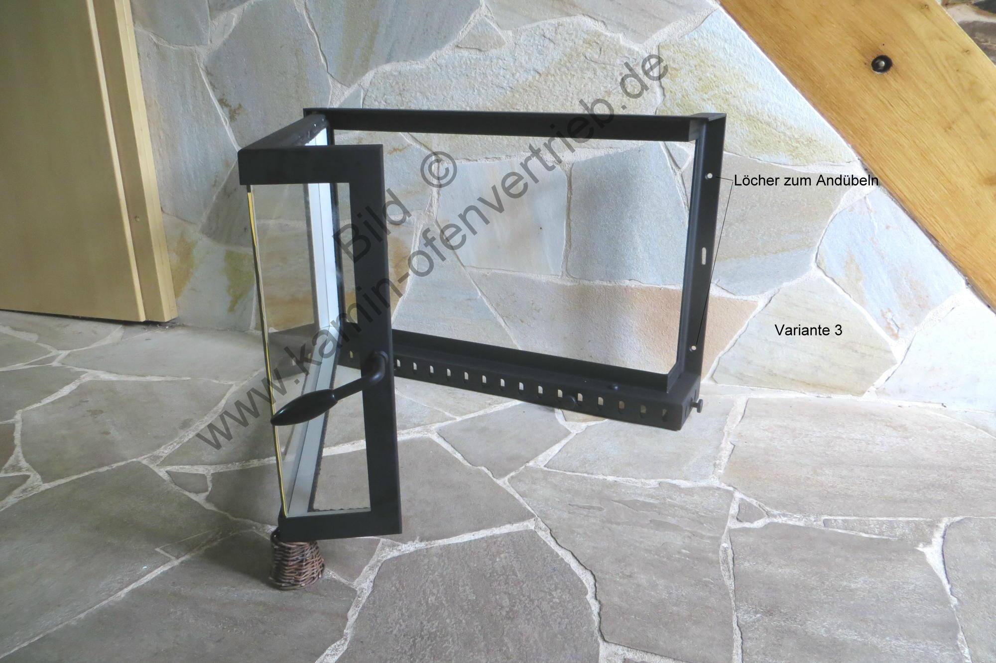Kamintür Mit Glas Mit Seitenglas Für Offenen Kamin Variante 3