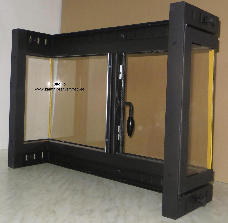 ... Kamintür Mit Glas Mit Seitenfenster Für Offenen Kamin Mit Zwei 2  Seitenfenster