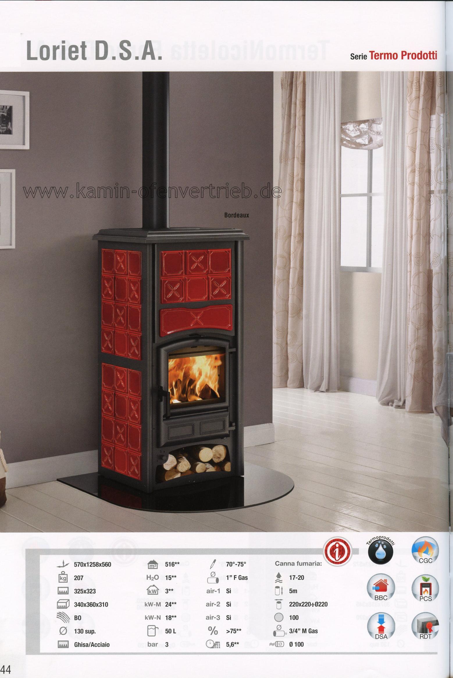 la nordica kaminofen termonicoletta forno dsa termorossella plus forno dsa termoisotta loriet. Black Bedroom Furniture Sets. Home Design Ideas