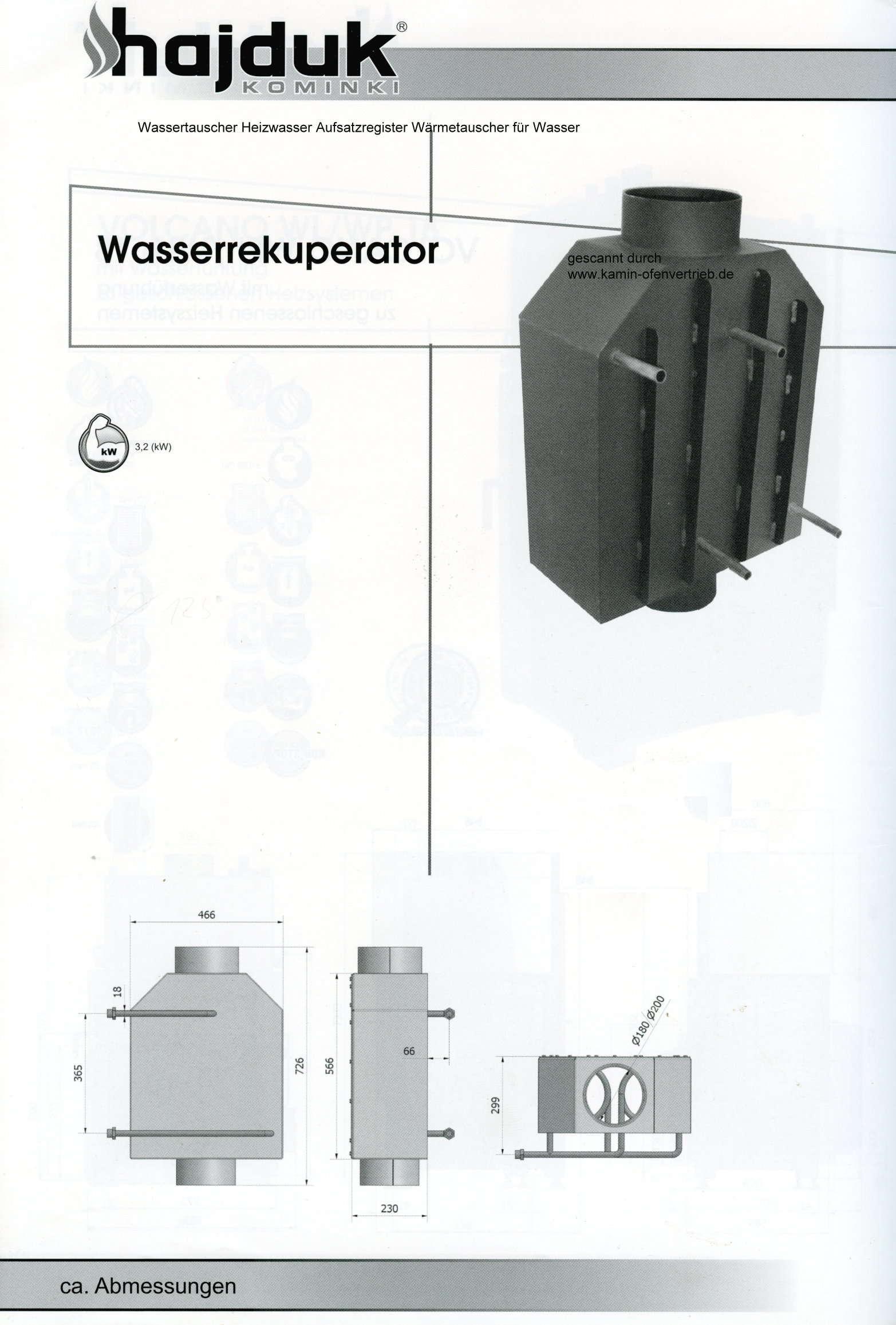 wassertauscher heizwasser aufsatzregister w rmetauscher wasser kamineinsatz. Black Bedroom Furniture Sets. Home Design Ideas